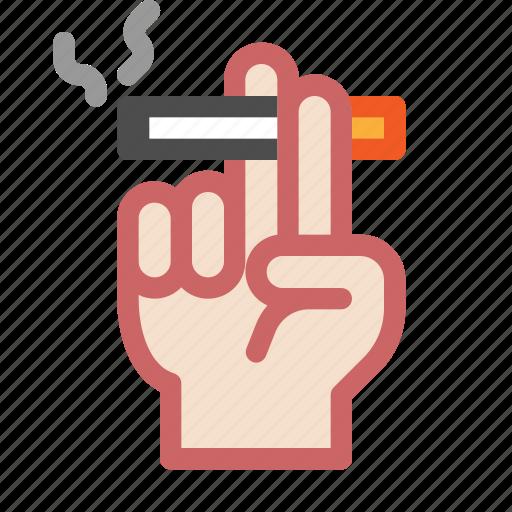 adult, finger, gesture, hand, smoke, smoking icon