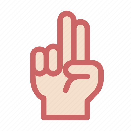 finger, gesture, gun, hand, respect, two, up icon