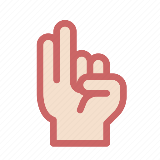 finger, gesture, hand, pinkie, ring, two icon