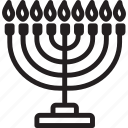 celebration, hanukkah, jewwish, religion icon