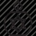 hanukkah, jewwish, party, religion icon