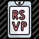 invitation, card, celebration, decoration, party, smartphone, rsvp