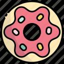 donut, dessert, doughnut, sweet, food, bakery, snack