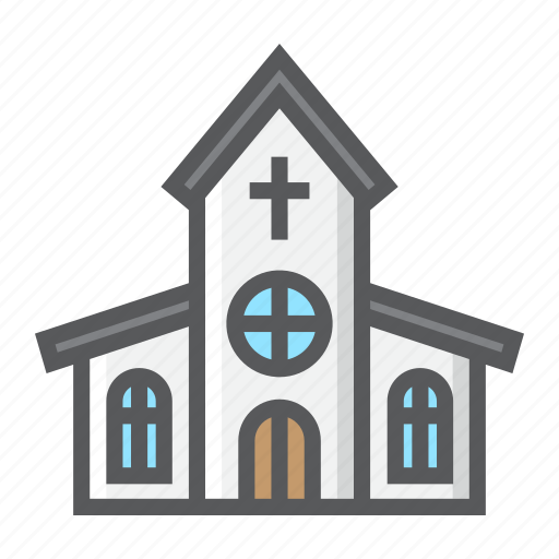 building, catholic, church, cross, easter, holiday, religion icon
