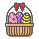 basket, celebration, decoration, easter, eggs, happy, holiday