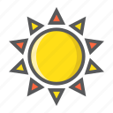 heat, hot, light, summer, sun, sunshine, weather icon