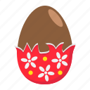 celebration, chocolate, easter, egg, food, holiday, wrapper icon