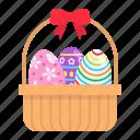 basket, celebration, decoration, easter, eggs, happy, holiday icon