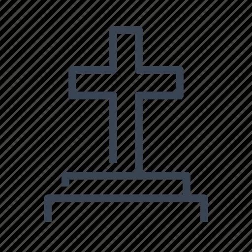 cemetery, cross, grave, tomb, tombstone icon