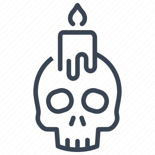 Candle, halloween, skull icon - Download on Iconfinder