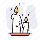 candles, decoration, halloween, holiday, scary icon