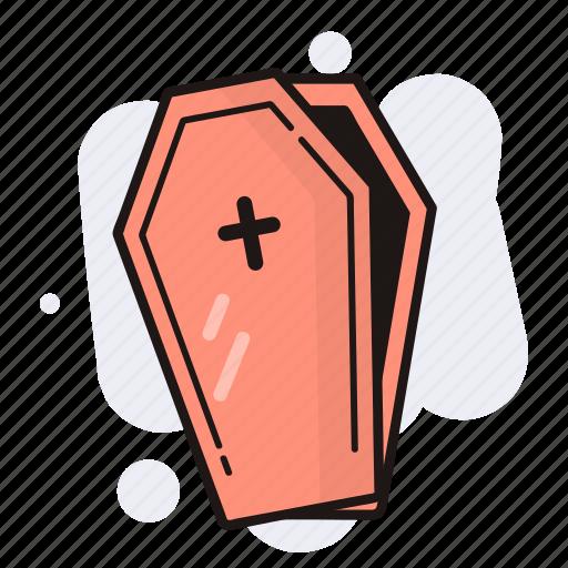 coffin, death, evil, halloween icon