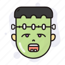 frankenstein, halloween, horror, spooky icon
