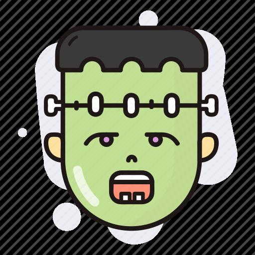 frankenstein, halloween, horror, spooky icon