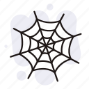 halloween, horror, spider web, web icon