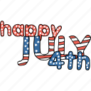 america, american, celebrate, greetings, independence day, july 4th, wishes icon