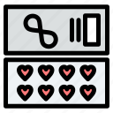 cosmetic, gift, love icon