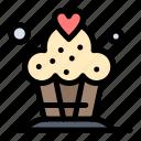 cake, cupcake, desert icon