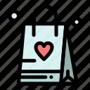 bag, love, shopping icon