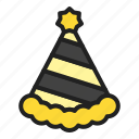 newyear, celebration, party, hat, winter icon
