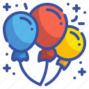 balloons, party, birthday, celebration, new, year, carnival