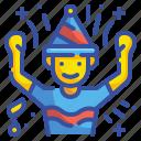 man, party, hat, celebration, birthday, boy, festival