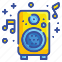 speaker, audio, music, device, sound, celebration, party