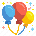 balloons, party, birthday, celebration, new, year, carnival icon