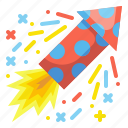 fire, cracker, firework, rocket, new, year, celebration icon