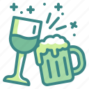 drinking, beer, beverage, wine, glass, celebration, party icon