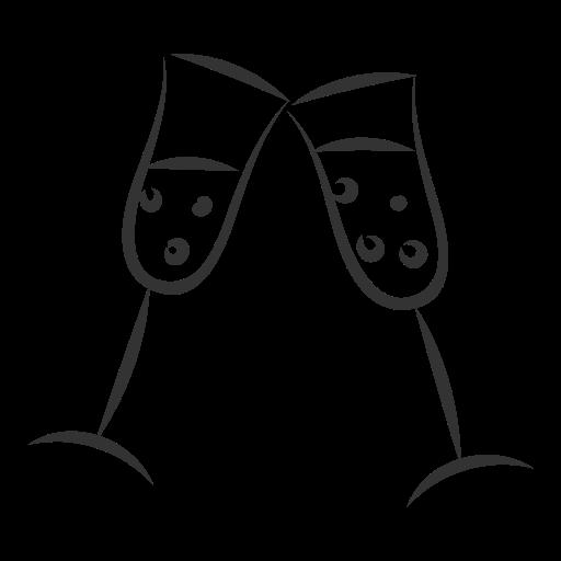 celebration, christmas, gift, present, stemware, wineglass, xmas icon