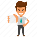 business mail, business mailing concept, business postal service, businessman holding envelope, company mailing icon
