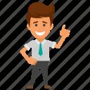 achievement, happy businessman., successful employer, win, winner businessman icon