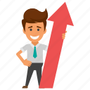 career advancement, career opportunities, career success, financial performance, promotions icon