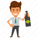 business party, businessman with champagne, cocktail party, drunk businessman, office celebration icon