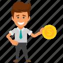 investor, profit generation, profit maker, profitable businessman, successful businessman icon