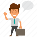 business people character, business person, businessman avatar, businessman thinking, businessman with thinking bubble icon