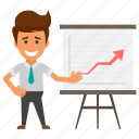 business analytics, business presentation, infographic, statistics, whiteboard graph icon