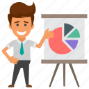 analytics, business evaluation, business graph, project report., statistical analysis icon