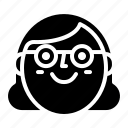 avatar, face, smile, woman icon