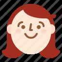 avatar, face, girl, smile icon