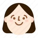face, girl, happy, smile icon