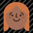 face, female, girl, profile, smile