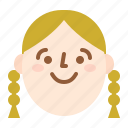 avatar, face, girl, happy