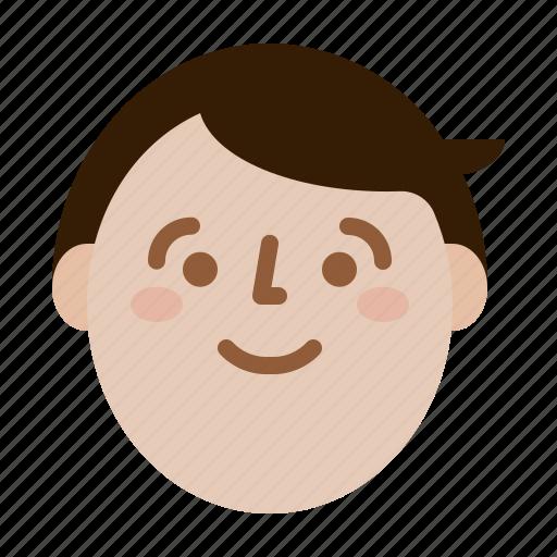 face, man, profile, smile icon