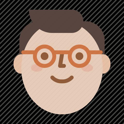 man, profile, smile, sunglass icon