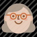 avatar, face, smile, woman