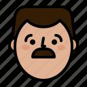 avatar, face, happy, man