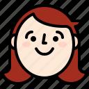 avatar, face, girl, smile