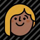 avatar, face, girl, happy, smile
